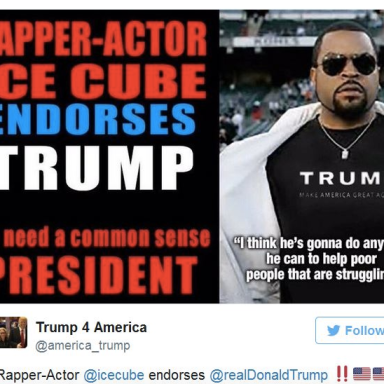 Ice Cube's Epic Response To A Fake Report Of Him Endorsing Trump Is Straight Fire