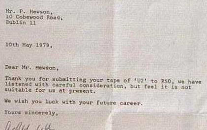 U2 rejection