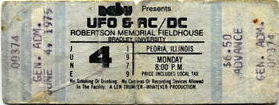 UFO ACDC ticket