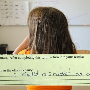Student Had To Fill Out Paper After Bad Behavior, But This Probably Was NOT What The School Had In Mind
