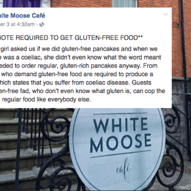 This Café Wants People To Bring A Doctor's Note Before Serving Gluten Free Food And People Are Pissed
