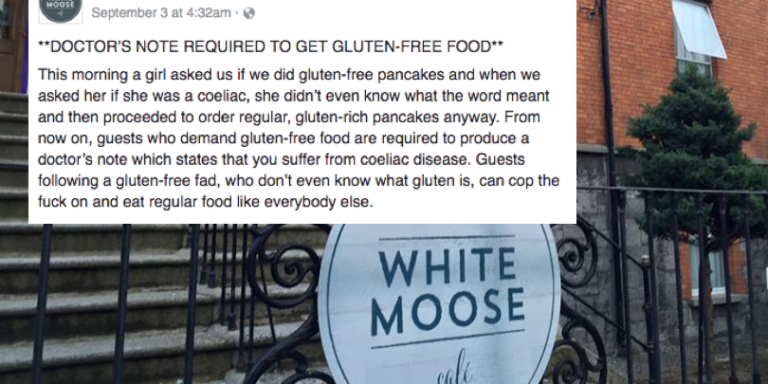 This Café Wants People To Bring A Doctor's Note Before Serving Gluten Free Food And People ArePissed