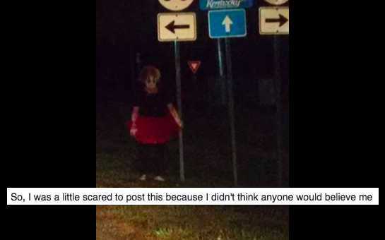 Someone Finally Managed To Snap Some Pictures Of These Predator Clowns And They'reHorrifying