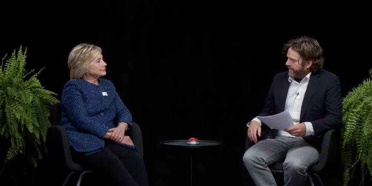 You Need To Watch Hillary Clinton On 'Between Two Ferns' Because It'sHilarious
