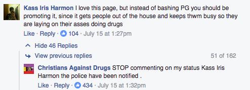 Facebook / Christians Against Drugs