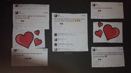 Girl Printed Out All The Mean Subtweets Her Roommate Made About Her, Now The Police AreInvolved