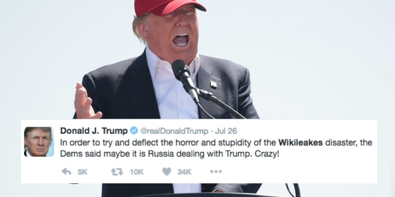 Donald Trump Doesn't Know How To Spell 'Wikileaks'