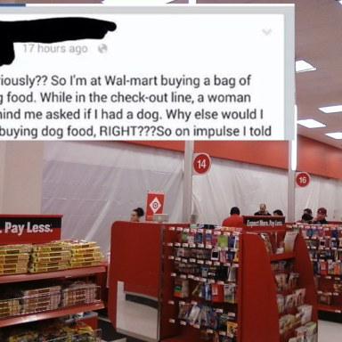 A Woman Asked This Man Why He Was Buying Dog Food, And Everything Gets Hilarious Really Fast