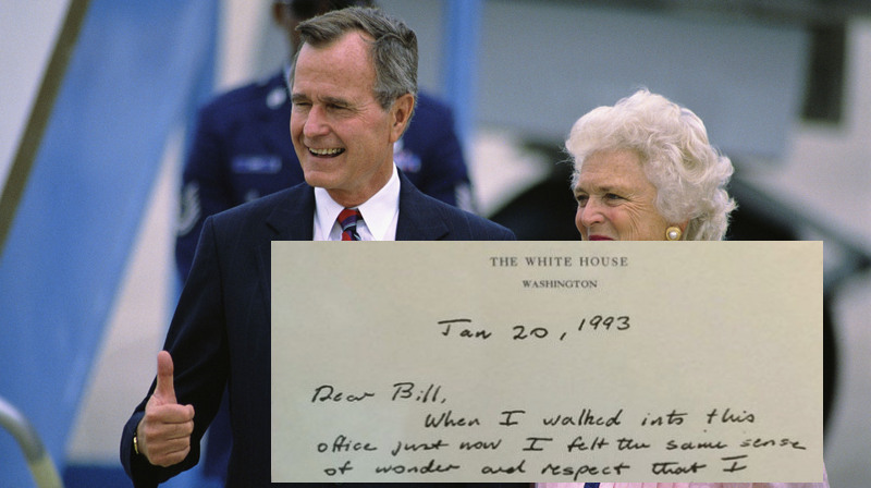 Trump Should Read This Moving Note President George HW Bush Wrote Bill Clinton After Losing