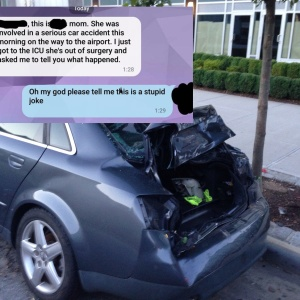 This Man Was Terrified When His Long Distance GF Got In A Car Crash, But What Actually Happened Is So Fucked Up