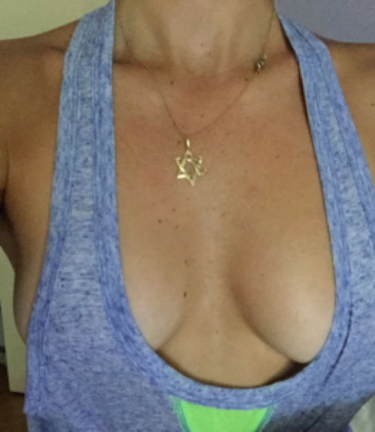 Yup, that's right, these are my tatas. They even distract me!