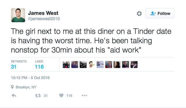 This Hilarious Live Tweet Of A Tinder Date Going EPICALLY Wrong Shows Everything A Man Should NeverDo