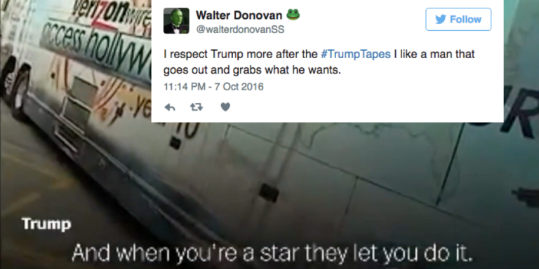 These People Applauding Donald Trump's 'Grab Em By The Pussy' Comments Prove Deplorables AreReal