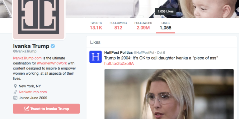 Why Did Ivanka Trump 'Like' An Article Describing How Father Donald Trump Said It Was Cool To Call Her A 'Piece OfAss'?