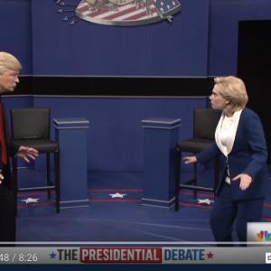 Watch Last Night's SNL Spoof Of The Second Presidential Debate (It's Hilarious)