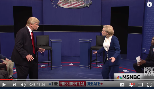Watch Last Night's SNL Spoof Of The Second Presidential Debate (It'sHilarious)