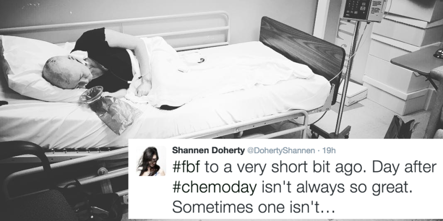 "Shannen Doherty Shares A Chemo Photo ""To Everyone Suffering: Stay Courageous. Hope Is Possible."""
