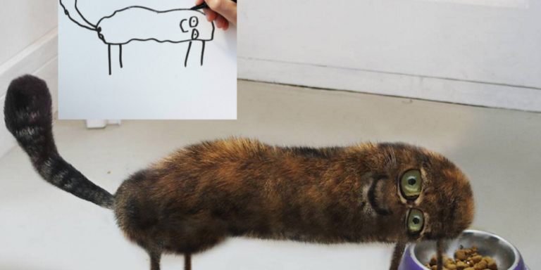 This Father Turns His Son's Drawings Into Realistic Photos And The Hilarious Results Will Have You Laughing OutLoud