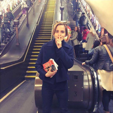 Just When You Thought She Couldn't Get Any Better, Emma Watson Is Now Leaving Books On The Underground For You To Read