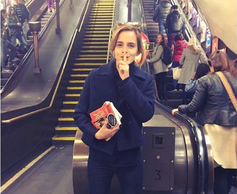 Just When You Thought She Couldn't Get Any Better, Emma Watson Is Now Leaving Books On The Underground For You ToRead