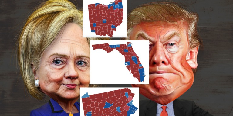 Here's Who Will Win The Election Battleground States Based On The Votes SoFar