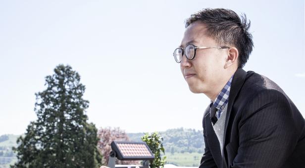 Amarit Charoenphan, Mitbegründer vom ersten Co-Workingspace in Thailand (Hubba), am Freitag (08.05.15) am St. Gallen Symposium in St. Gallen. Foto: Tanja Demarmels