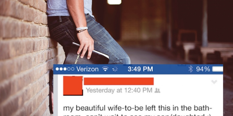 How This Man Reacted To His 'Virgin' Wife's Positive Pregnancy Test Seems A *Little*Naive