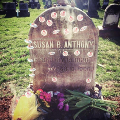 Women Are Leaving 'I Voted' Stickers On Susan B. Anthony's Grave, And It's Beautiful