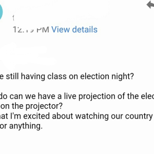 This Professor's Response When A Student Asked To Watch Election In Class Will Make You LOL