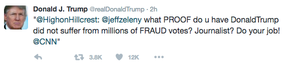 Donald Trump Is Quoting Random People On Twitter To 'Prove' Voting Fraud Happened