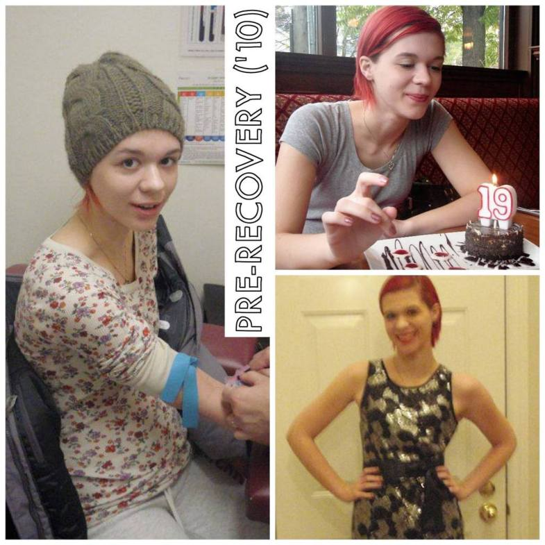 """[Some of the only photos that still exist of me aged 18/19 during EDNOS, pre-recovery. I took that mini birthday cake """"to-go"""" that my parents insisted they bought me + I never ate it, you can see how uncomfortable I look with it…]"""
