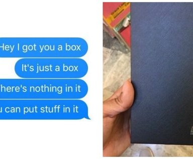 How This Woman Responded To Her Boyfriend's Gift Of An Empty Box Is Absolutely Hilarious