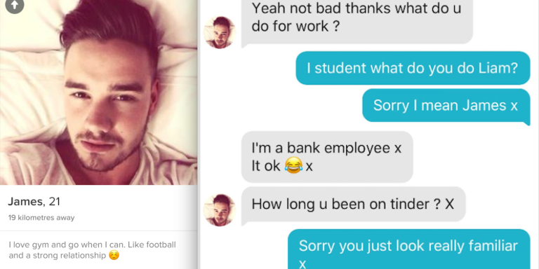 This Girl Used 1D Lyrics To Troll This Dude Who's Pretending To Be Liam Payne On Tinder And It'sHilarious