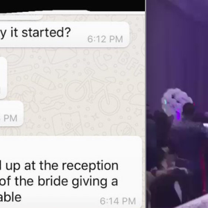 This Dude Brought Pics Of His Ex Giving Him A Blowjob To Her Wedding, Video Shows HUGE Fight