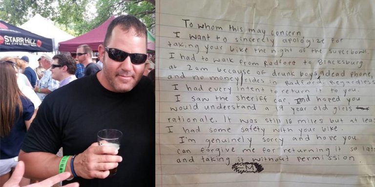 This Truly Touching Letter A Sheriff's Deputy Wrote To The Girl Who Stole His Bike Is SuperHeartwarming