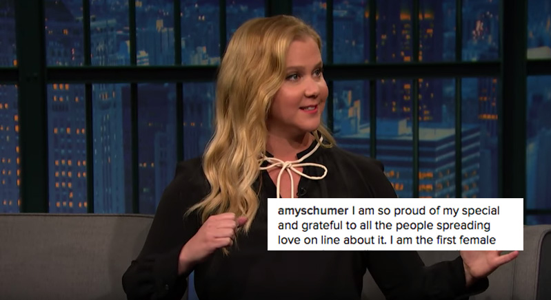 Amy Schumer Made This Defiant Instagram Post Blaming Alt Right Trolls For 'Sabotaging' Her