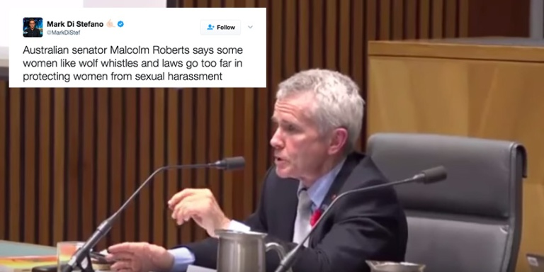 This Senator Just Said Cat-Calling Is A 'Compliment' And People Are Dragging Him OnTwitter