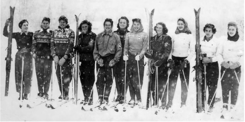 Canadian Women's National Ski Team 1948 (Granny is third in from the left)
