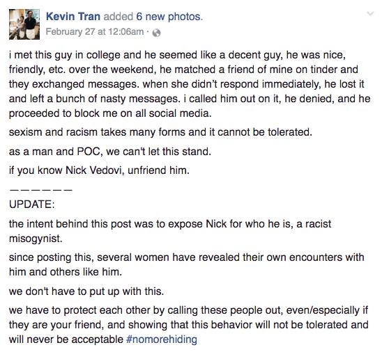 Facebook / Kevin Tran