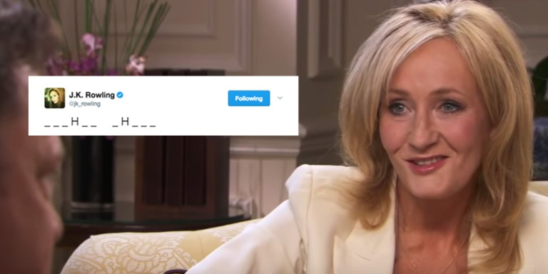 JK Rowling Started A Game Of Hangman On Twitter To Reveal The Title Of Her NextNovel