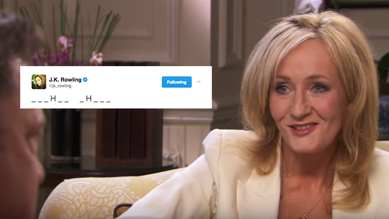JK Rowling Started A Game Of Hangman On Twitter To Reveal The Title Of Her Next Novel