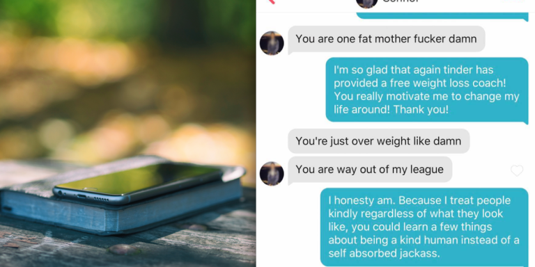 This Guy Matched With A Girl On Tinder Just So He Could Body ShameHer