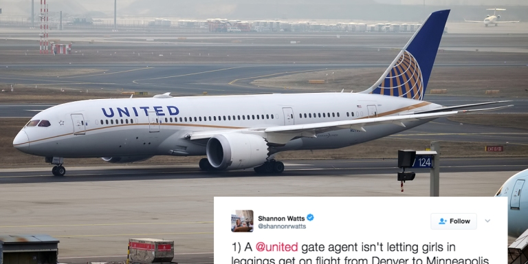 United Airlines Is Trying To Explain Why They Kicked These Women Off A Flight Because They Were 'WearingLeggings'