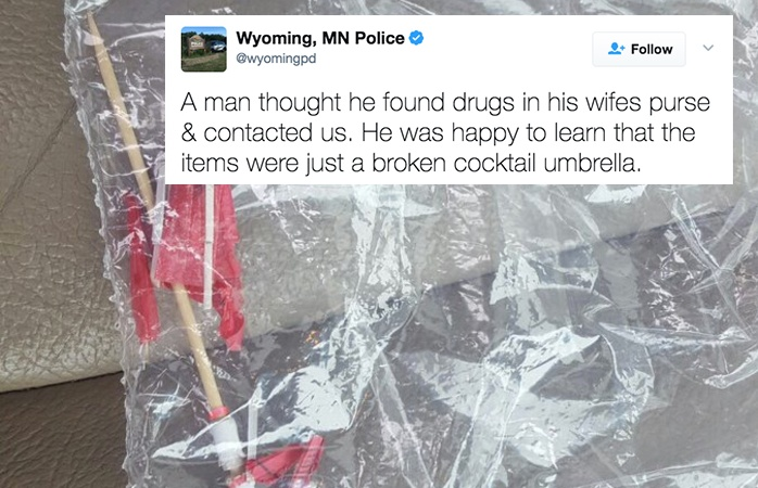 This Man Called The Cops When He Found 'Drugs' In His Wife's Purse, But What It Really Was Is Even Weirder