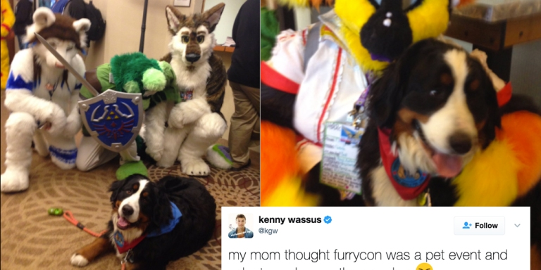 This Woman Who Accidentally Took Her Dog To A Furry Convention Is The Purest Thing On Twitter