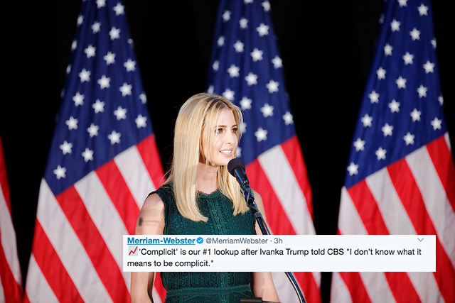 Merriam-Webster Schooled Ivanka Trump On Twitter After She Said She Didn't Know What It Meant To Be 'Complicit'
