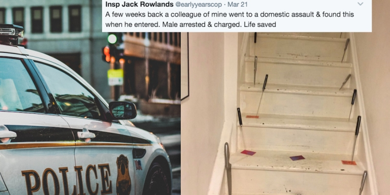 Police Shared This Creepy Photo Of A Domestic Abuse Victim's House And People On Twitter Are In Shock