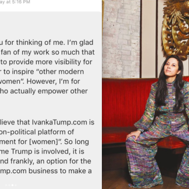 This Queer Chef Turned Down An Interview With Ivanka Trump's Website With This Absolutely Perfect Response