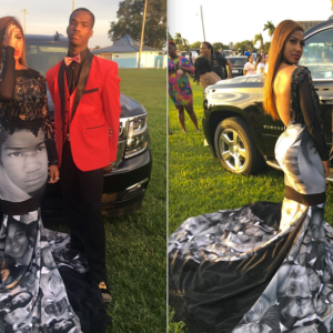 This Teen Wore A 'Black Lives Matter' Prom Dress That Showed The Faces Of Victims Of Police Brutality