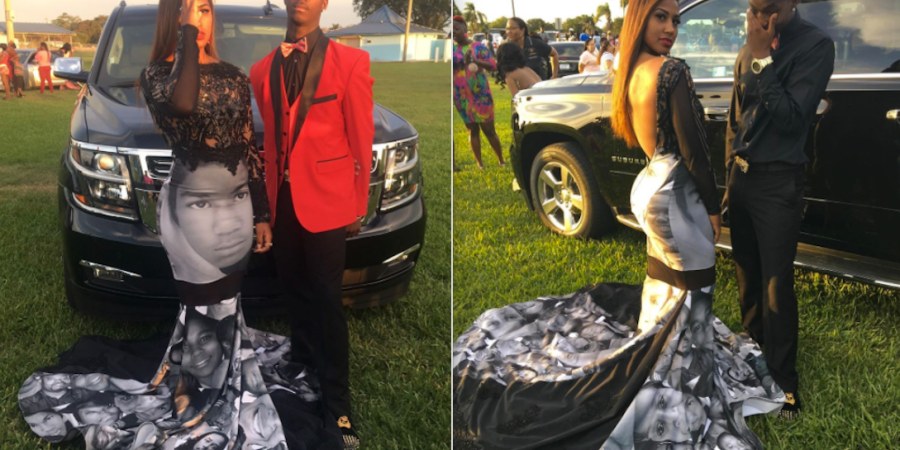 This Teen Wore A 'Black Lives Matter' Prom Dress That Showed The Faces Of Victims Of PoliceBrutality